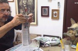 Taller de escultura en papel 3. Máscaras en cartapesta