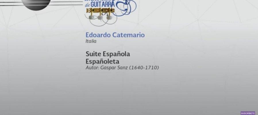 Conciertos guiados. Suite española para guitarra de Gaspar Sanz