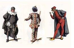 Muestra de diseño de vestuario de teatro clásico