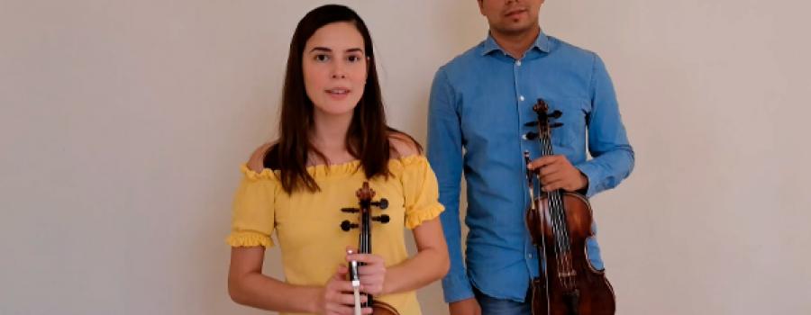 Fabiola y Franklín, interpretan a Shostakovich