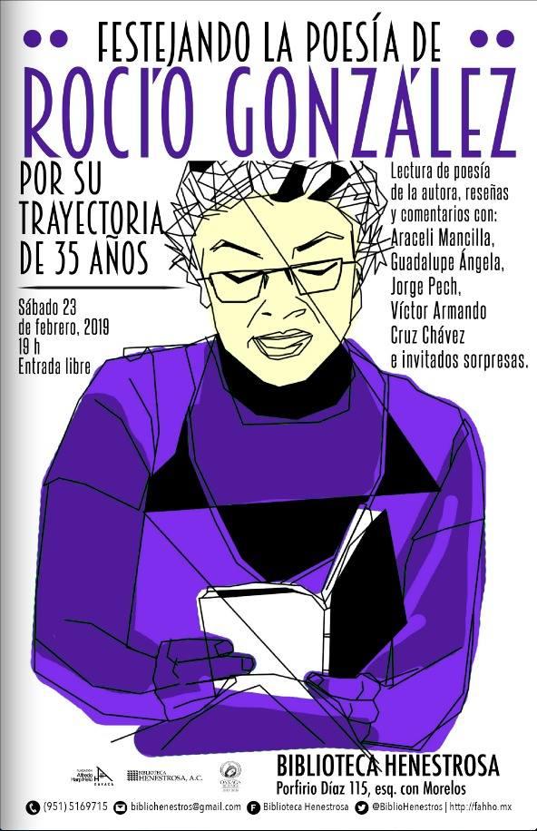 Festejando la poesía de Rocío González
