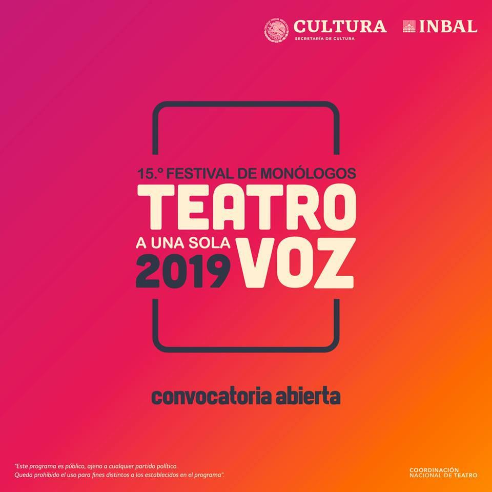 15.° Teatro a Una Sola Voz - Festival de Monólogos 2019