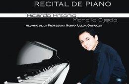 Recital de piano con Ricardo Antonio Mancilla Ojeda