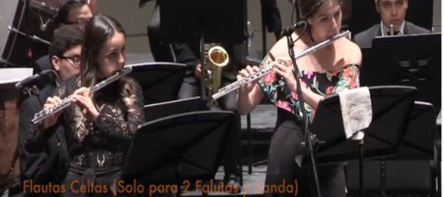 Flautas celtas, con la Banda Sinfónica Juvenil del Estado