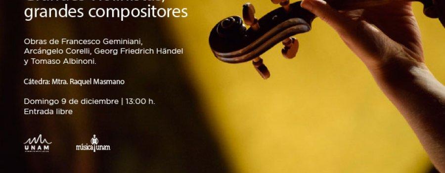 Grandes violinistas, grandes compositores