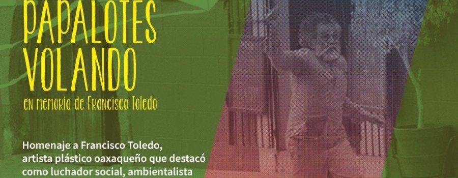 100 papalotes volando en memoria de Francisco Toledo