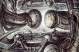 Dark Scene by H. R. Giger, the Genius of the Future
