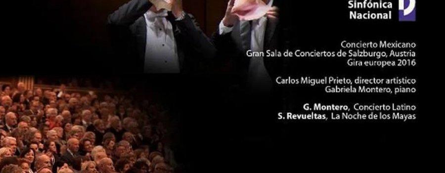 Orquesta Sinfónica Nacional. Concierto Mexicano en la Gran Sala de Conciertos de Salzburgo, Austria