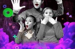 ¡Ilusiones, pantomima/clown actos sin palabras!