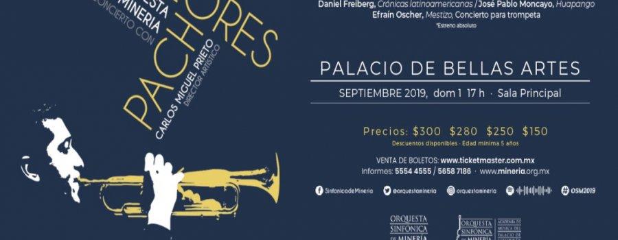 Orquesta Sinfónica de Minería y Pacho Flores interpretando música latinoamericana