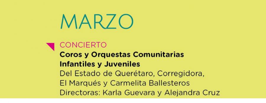 Coros y Orquestas Comunitarias Infantiles y Juveniles