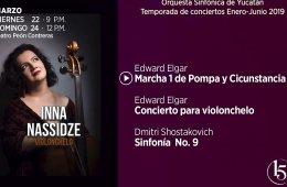 Inna Nassidze con la Orquesta Sinfónica de Yucatán