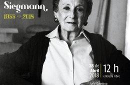 Homenaje in memoriam Naomi Siegmann 1933 – 2018