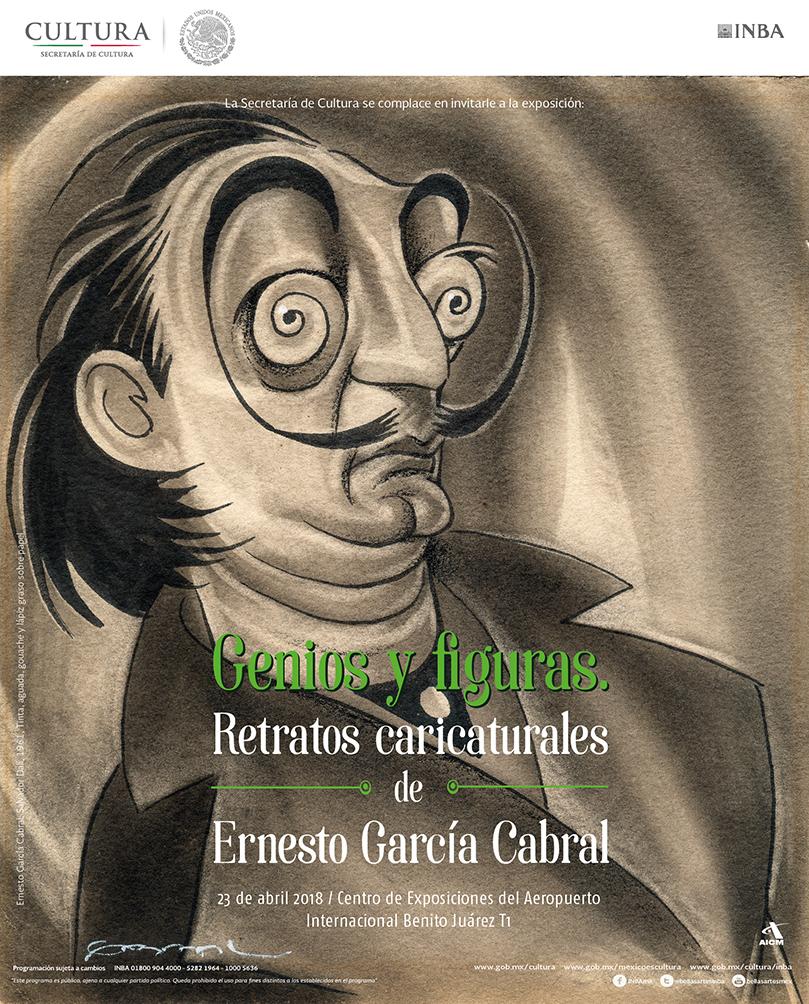 """Resultado de imagen para """"Genios y Figuras. Retratos caricaturales de Ernesto García Cabral"""""""