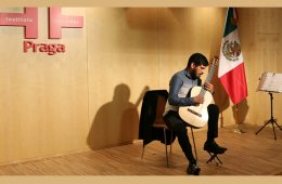 Latin American Landscape with Guitar