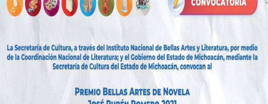 Premio Bellas Artes de Novela José Rubén Romero 2021