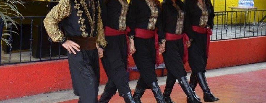 Demostración del baile folklórico dabke