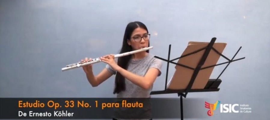 Denia Beltrán, Flautista en la BSJE interpreta Estudio Op. 33 para Flauta, de Köhler