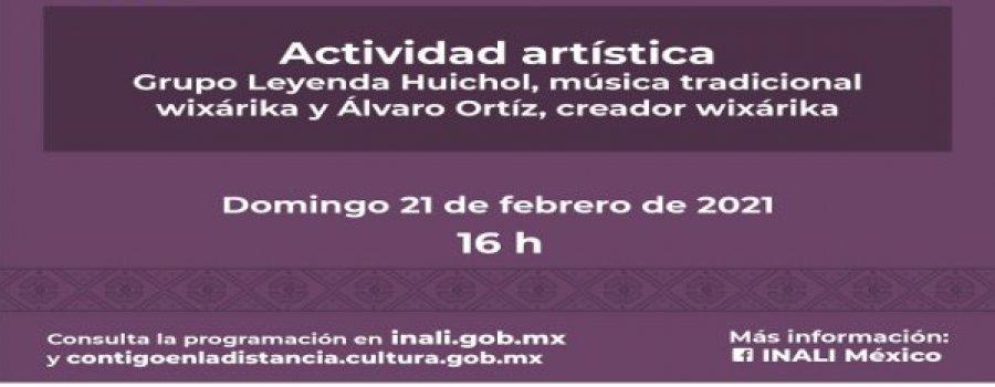 Grupo Leyenda Huichol, música tradicional wixárika y Álvaro Ortíz, creador wixárika