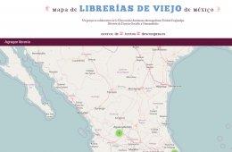 Mapa de librerías de viejo de México
