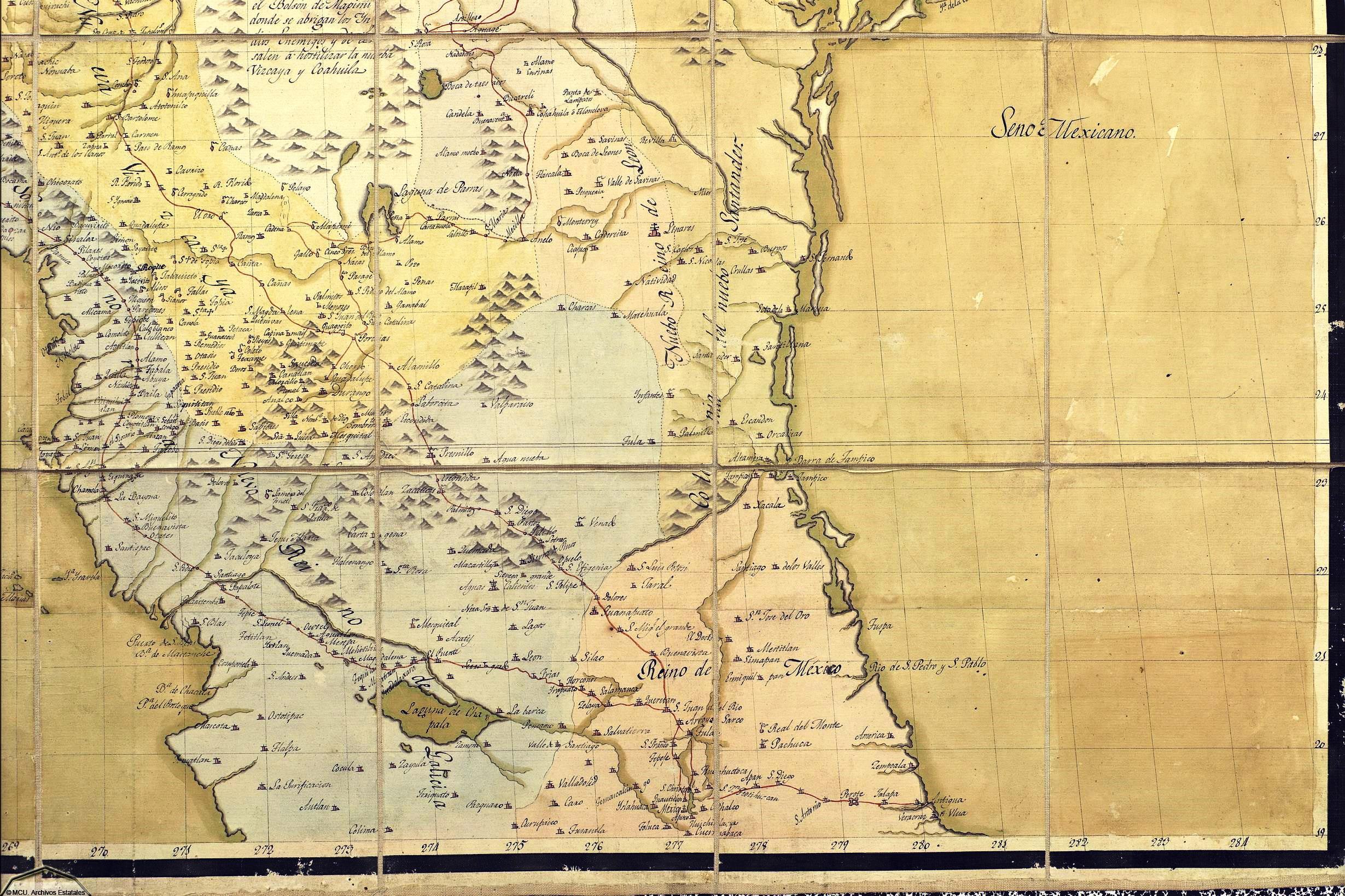 Mapa De Nueva España Siglo Xvi.Cartografia Tlaxcalteca En El Norte De La Nueva Espana