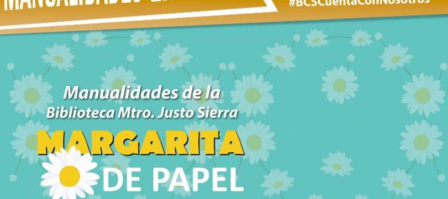 Manualidades en línea: margarita de papel