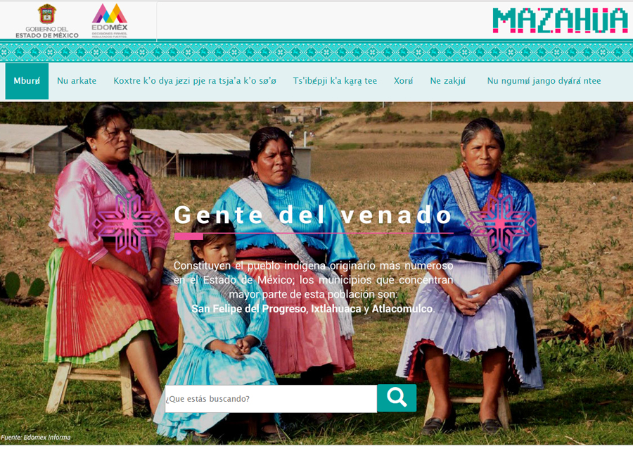 Portal in Mazahua Indigenous Language