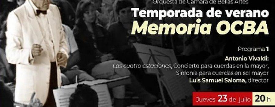 Orquesta de Cámara de Bellas Artes: Las cuatro estaciones
