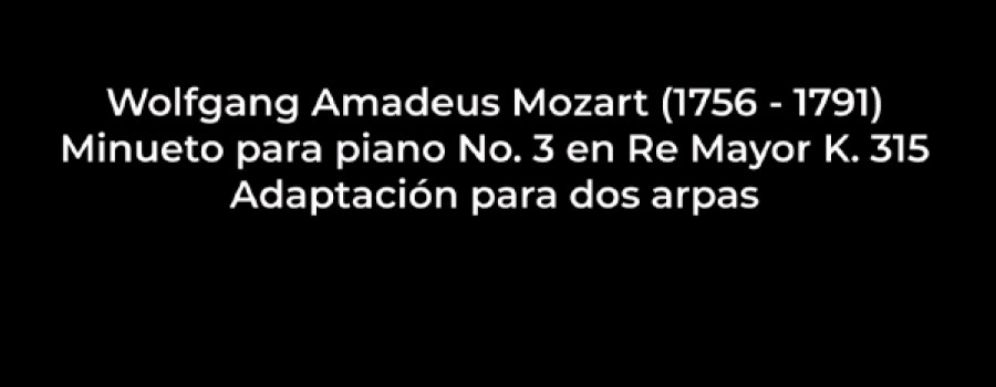 Minueto para piano núm. 3 en re mayor k 315 de W. A. Mozart