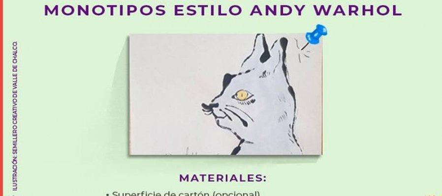 Monotipos estilo Andy Warhol