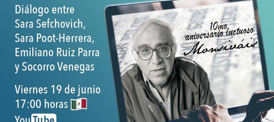 Charla, cultura y sociedad, binomio inseparable en Carlos Monsiváis