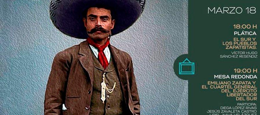 El sur de los pueblos zapatistas y Emiliano Zapata y el cuartel general del Ejército Liberador del Sur