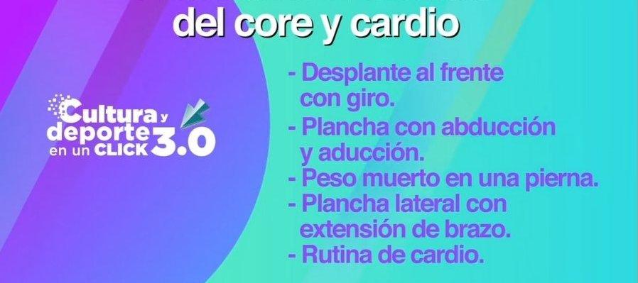 Activación física: Core y cardio