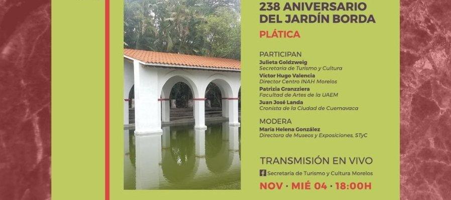 Celebración del 238 aniversario del Jardín Borda