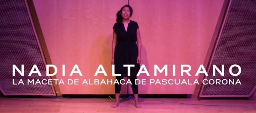 Nadia Altamirano - La maceta de albahaca de Pascuala Corona