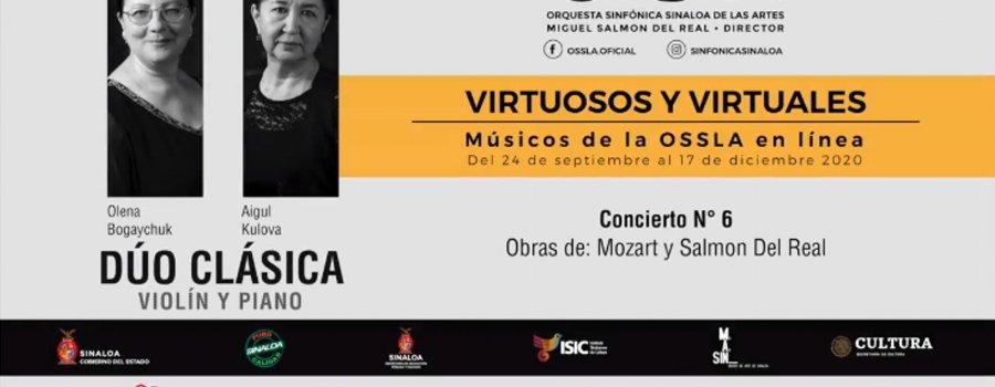 Virtuosos y Virtuales: músicos de la OSSLA en línea. Dúo Clásica