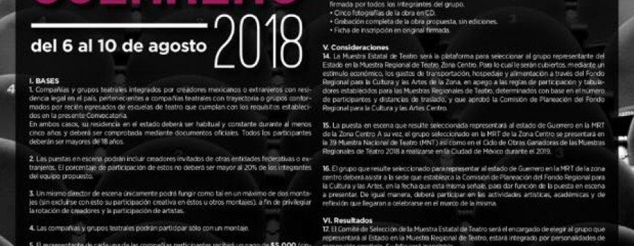 Muestra Estatal de Teatro Guerrero 2018