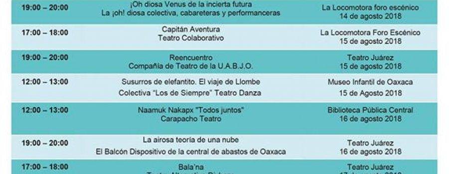 Muestra Estatal de Teatro 2018 Oaxaca