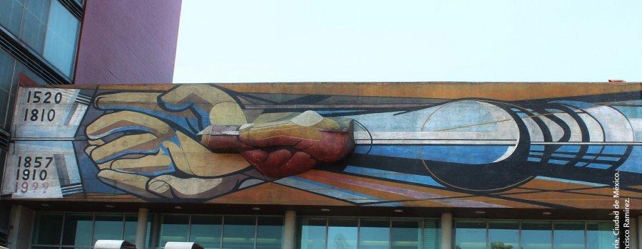 Los muralistas en Ciudad Universitaria. Ciudad de México