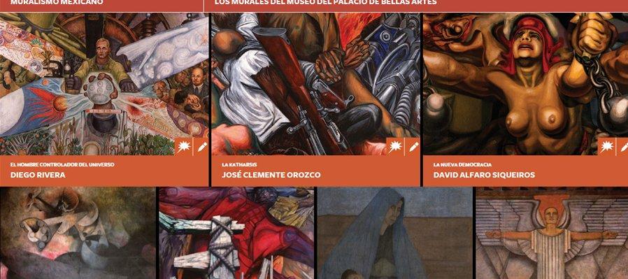Juega con los grandes muralistas mexicanos
