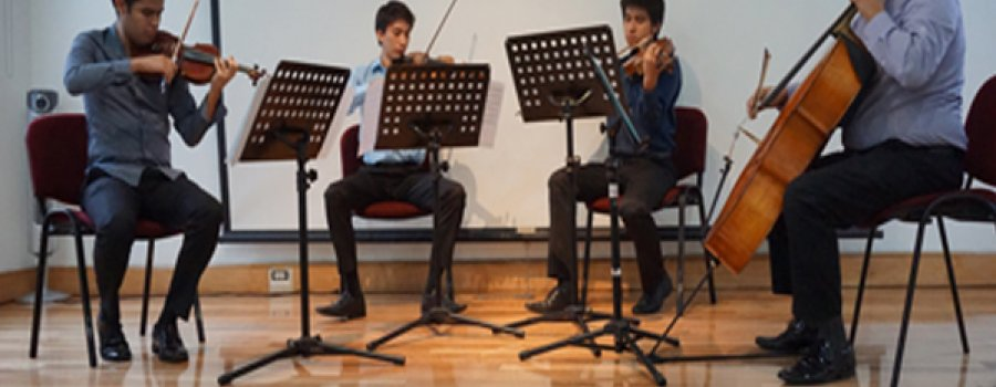 Violin and Double Bass Chamber Music Recital by Carlos Chávez School Orchestra