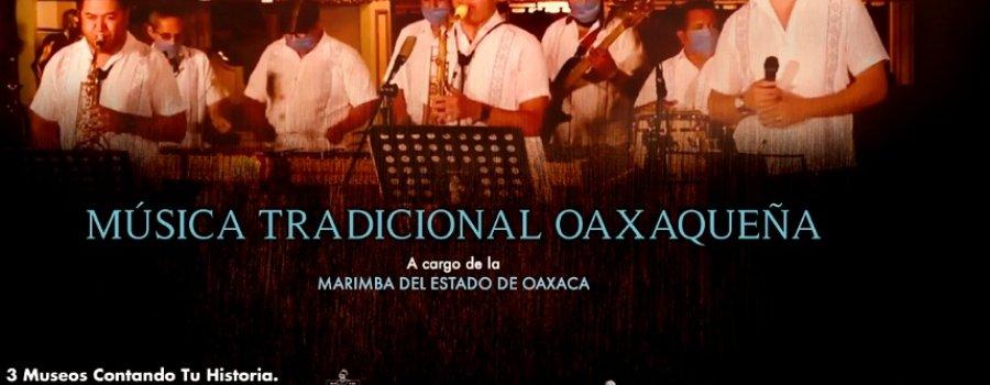 Música tradicional oaxaqueña a cargo de la Marimba del Estado de Oaxaca