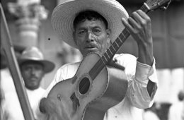 The Chants of the Mexican Minstrel. Historic Downtown, Me...