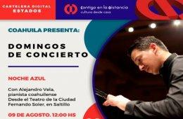 Noche Azul con Alejandro Vela, pianista coahuilense