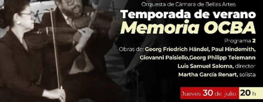 Memoria Orquesta de Cámara de Bellas Artes
