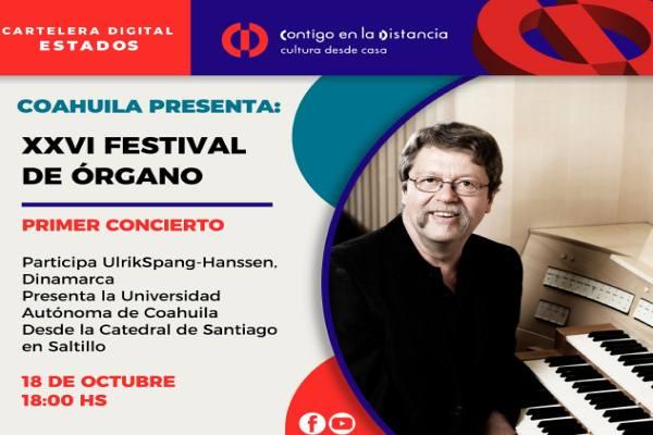 XVI Festival de Órgano. Tercer Concierto con Víctor Manuel Urbán Velasco