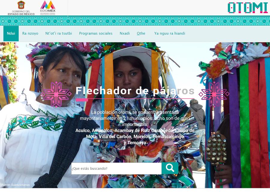Portal en lengua indígena Otomí