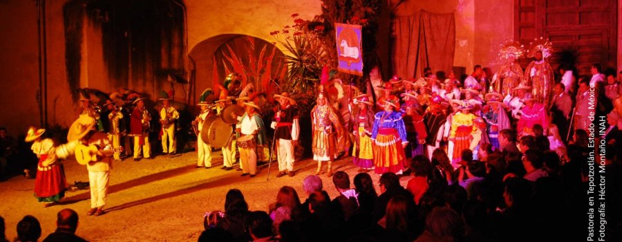 Nativity Play in Tepotzotlán. State of Mexico