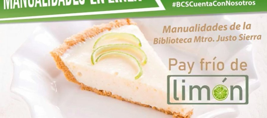 Manualidades en línea: pay de limón
