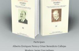 Presentación del Diario de Alfonso Reyes, tomos III y IV